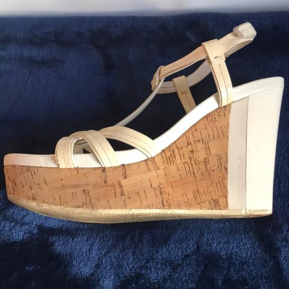 Prada Shoes - Prada Platform Sandal, White